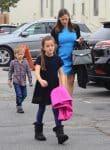 Jennifer Garner arrives at church with her kids Samuel and Seraphina Affleck