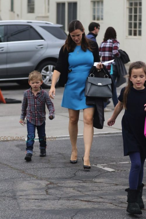 Jennifer Garner arrives at church with her son Sam Affleck