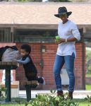 Kelly Rowland and her son Titan Witherspoon enjoy a day at the Coldwater Canyon Park in Beverly Hills