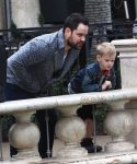 Mike Comrie Takes his Son Luca To The Santa House