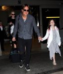 Nicole Kidman & Keith Urban Touch Down At LAX with their daughters