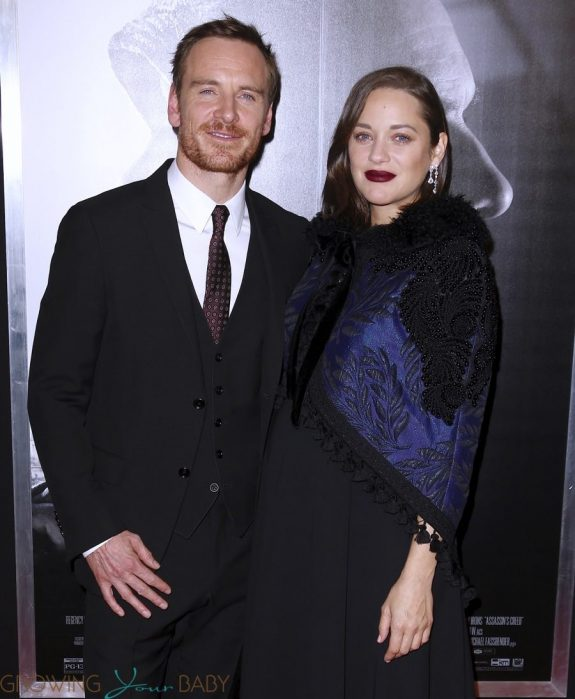 Pregnant Marion Cotillard and Michael Fassbender at the premiere of 'Assassins Creed' in New York City, New York on December 13 2016