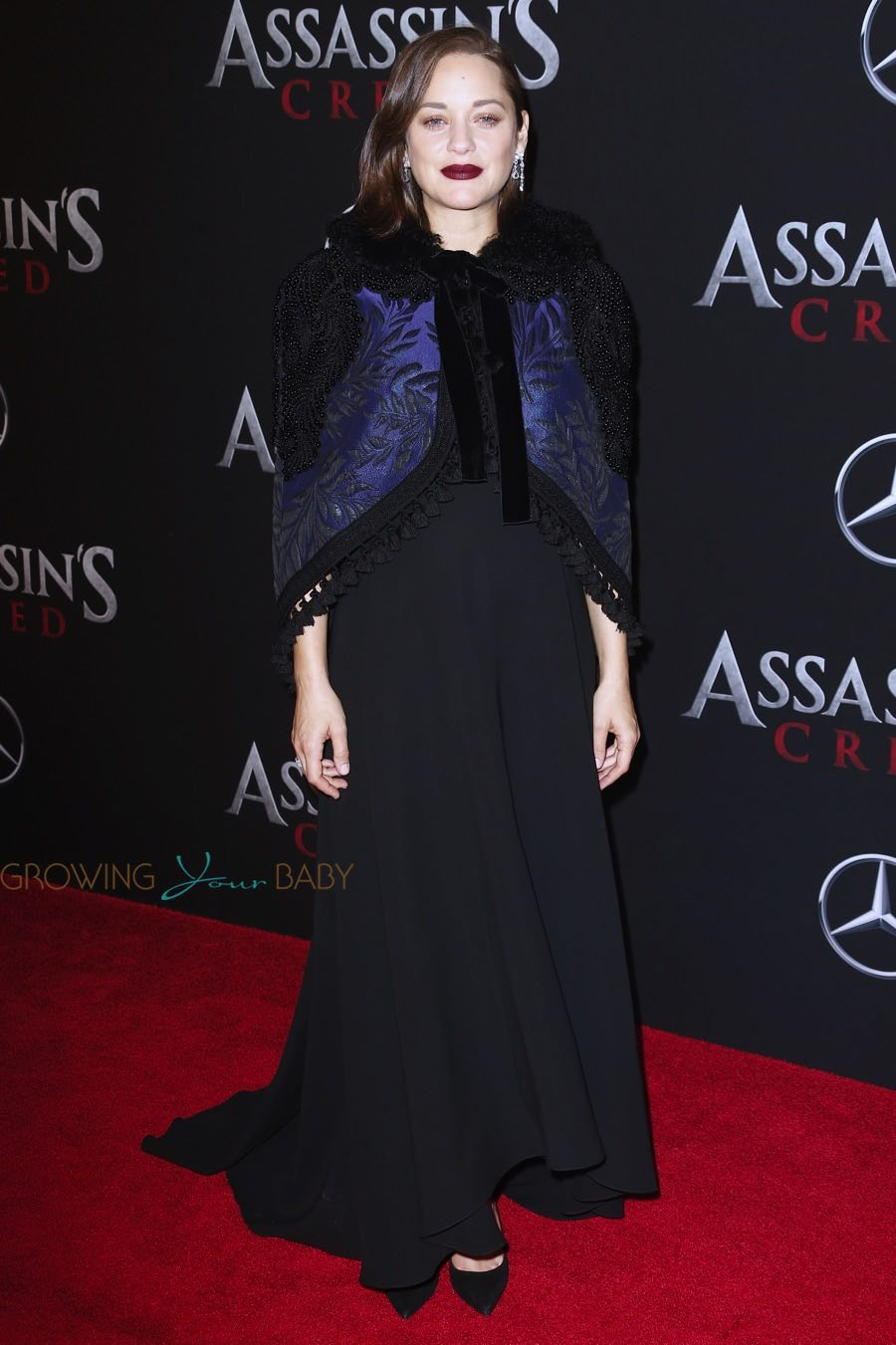 Pregnant Marion Cotillard at the premiere of 'Assassins Creed' in New York City, New York on December 13, 2016