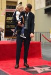 Ryan Reynolds and daughter James at Hollywood walk of fame ceremony in LA