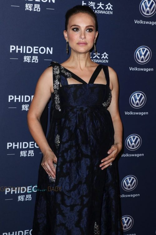 pregnant Natalie Portman at the 21st Annual Huading Global Film Awards