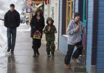 Actress Angelina Jolie is spotted out getting ice cream with her kids Shiloh and Knox in Crested Butte, Co