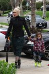 Gwen Stefani arrives at church with son Apollo Rossdale