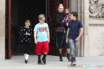Gwen Stefani leaves church with sons Kingston, Zuma and Apollo Rossdale