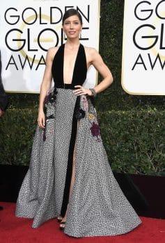 Jessica Biel at the 74th Annual Golden Globe Awards