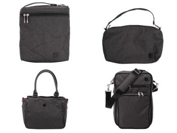Ju-ju-be diaper bags in chrome