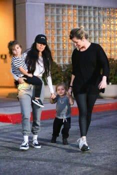 Kourtney Kardashian out in LA with kids Penelope & Reign Disick