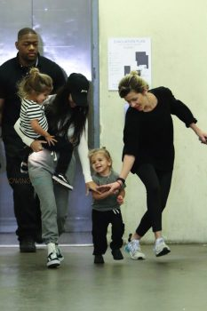 Kourtney Kardashian out in LA with kids Penelope and Reign Disick