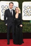 Kristen Bell and Dax Sheppard at the 74th Annual Golden Globe Awards
