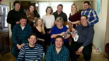 Laurie and Pat Scissons with their kids and grandbabies