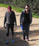 Pregnant Actress Natalie Portman Goes For A Hike At Griffith Park with a friend
