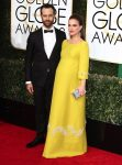 Pregnant Natalie Portman, Benjamin Millepied at the 74th Annual Golden Globe Awards