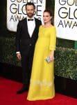 Pregnant Natalie Portman, Benjamin Millepied at the 74th Annual Golden Globe Awards