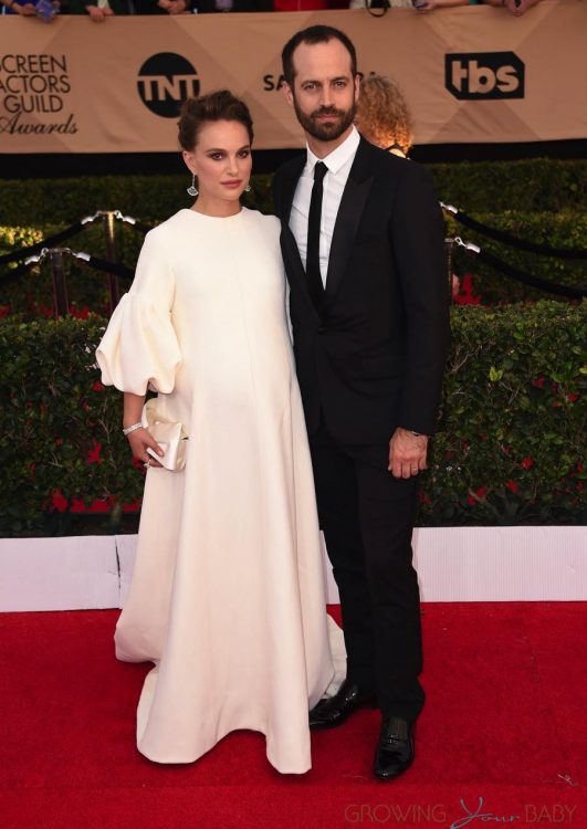Pregnant Natalie Portman & Benjamin Millipied at the SAG Awards 2017