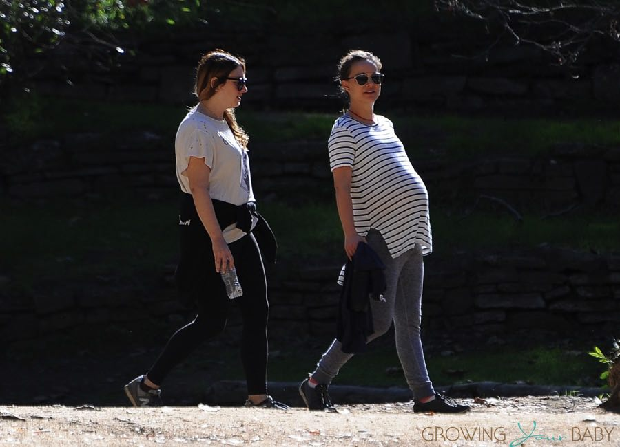 Pregnant Natalie Portman Out For A Morning Hike
