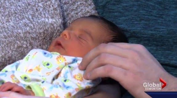 Surprise baby Raymond Innes