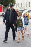 Ben Affleck & Jennifer Garner attend church service with their children on Super Bowl Sunday