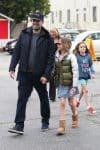 Ben Affleck & Jennifer Garner attend church service with their children on Super Bowl Sunday