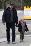 Ben Affleck attends church service with his son Sam on Super Bowl Sunday