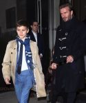 David Beckham and son Romeo out in NYC