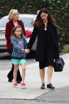 Jennifer Garner attends church service with her kids and Estranged husband Ben Affleck on Super Bowl Sunday