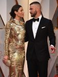 Jessica Biel and Justin Timberlake at the 89th Annual Academy Awards