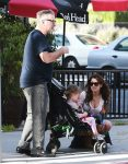 Alec Baldwin steps out in Beverly Hills with wife Hilaria Baldwin and kids Carmen & Rafael
