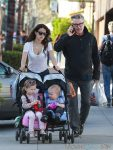 Alec Baldwin steps out in Beverly Hills with wife Hilaria Baldwin and kids Carmen and Rafael