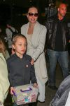 Angelina Jolie touches down at LAX with her son knox jolie-pitt