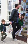 Ben Affleck arrives at church with Sam and seraphina