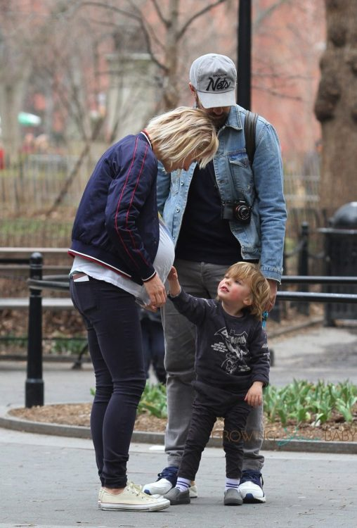 Olivia Wilde & Jason Sudeikis Take A Walk In Washington Square Park, NYC with son Otis