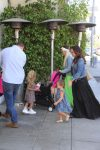 Petra Stunt and Tamara Ecclestone go for a stroll with their daughters in LA