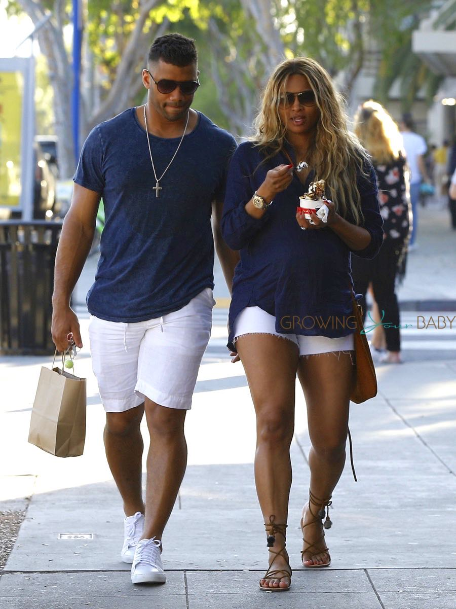 Russell Wilson And A Pregnant Ciara Shop In Style