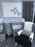 Sweet Kyla Black and white modern nursery collection