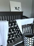 Sweet Kyla Black and white modern nursery collection, groovy giraffe