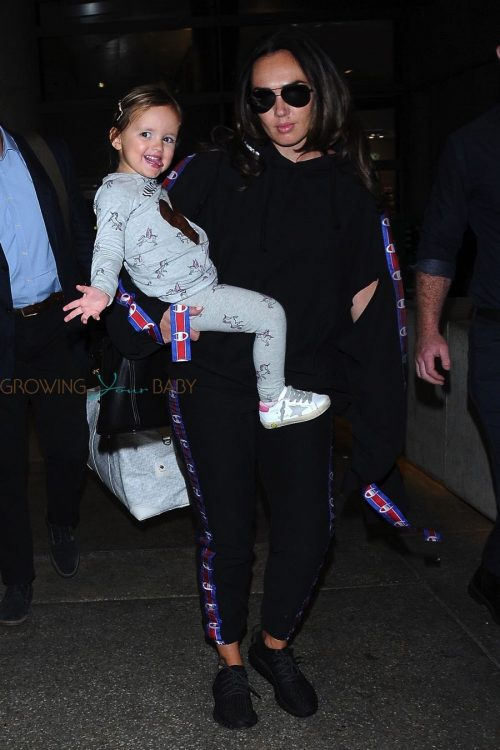 Tamara Ecclestone arrives at LAX with daughter Sophia