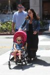 Tamara Ecclestone strolls with her daughter in LA