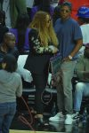 A very pregnant Beyonce at the Clippers game