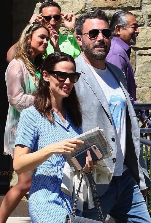 Ben Affleck and Jennifer Garner leave church together after Easter Service