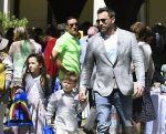 Ben Affleck leaves church with kids Sam and Seraphina after Sunday Service