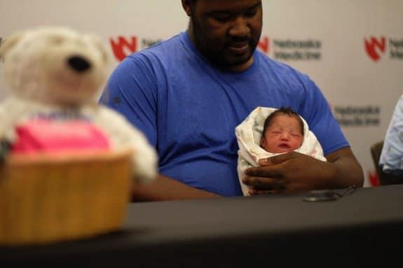 Born at a zoo - Justin Hubbard with baby Drea