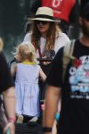 Drew Barrymore out for a stroll with her kids, Olive & Frankie in NYC
