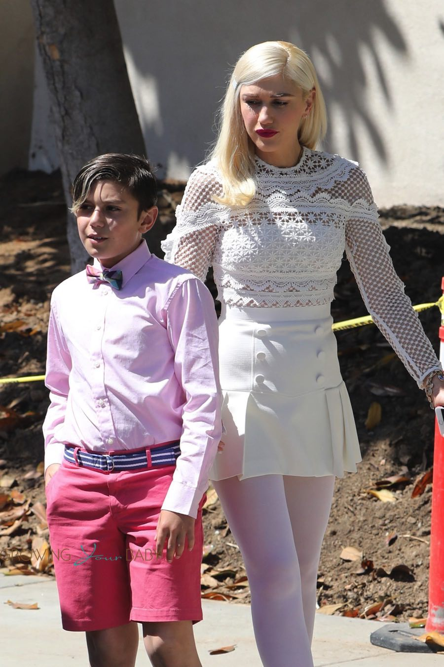 Gwen Stefani Leaves Sunday Service With Her Son Kingston