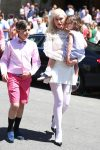 Gwen Stefani leaves Sunday Service with her sons Apollo and Kingston Rossdale