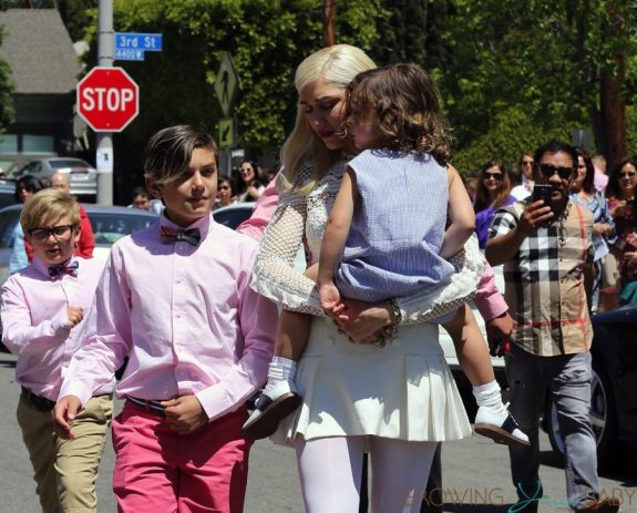 Gwen Stefani leaves Sunday Service with her sons Zuma, Apollo and Kingston Rossdale