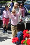Gwen Stefani leaves Sunday Service with her sons Zuma and Kingston Rossdale